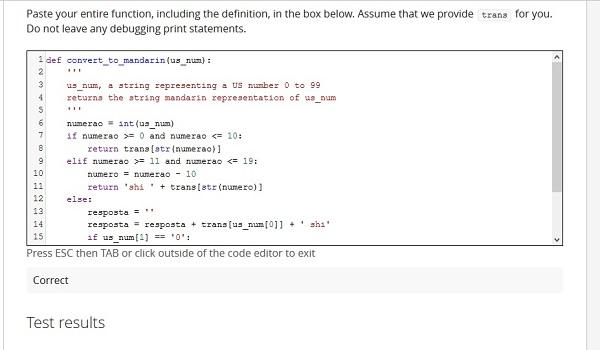 código em python